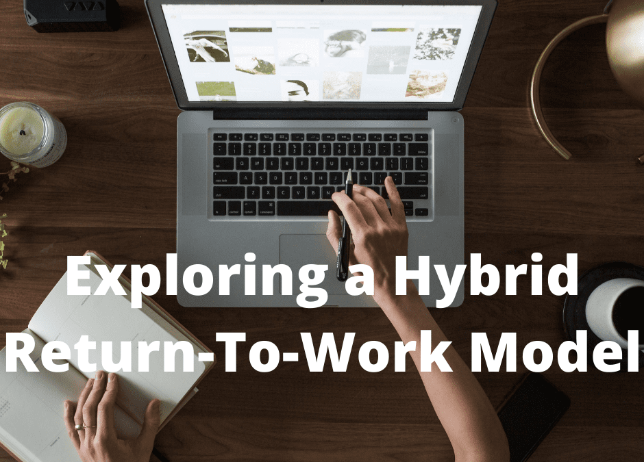 RETURNING TO THE WORKPLACE EXPLORING A HYBRID MODEL WEBINAR SERIES.                           June & July 2021