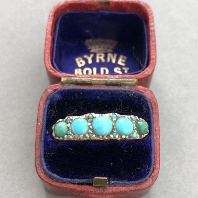 Victorian Turquoise 9ct Ring