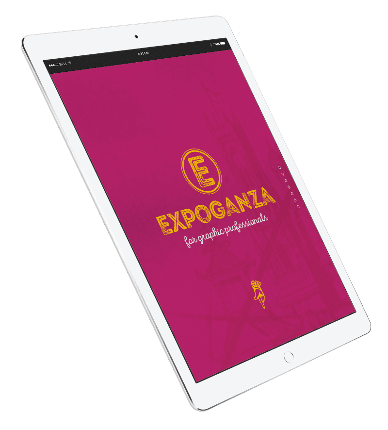 expoganza for graphi professional image on a tablet